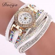 Women Dress Rhinestone Bracelet Watches Casual Fabric Classic Wristwatch Women Ladies Fashion Quartz Wrist Watch Gift XR1885