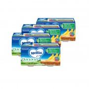Mellin Omogeneizzati di frutta - Kit risparmio 4x Banana - KIT 4x Confezione da 200 g ℮ (2 vasetti x 100 g)