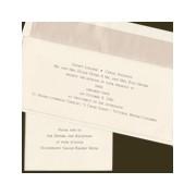 Heavy Ecru Horizontal Wedding Invitation Set