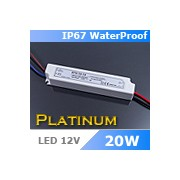 LED tápegység , 12 Volt , 20 Watt , 1,67A , kültéri , IP67 , Platinum