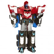Transformers - Playset, Mega paso Optimus prime (Hasbro B1564)