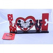 Disney Mickey and Minnie Wooden Love Sign