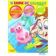 O lume de colorat vol.1 Animale salbatice Animale domestice Animale marine