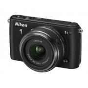 """Nikon 1 S1 Cámara EVIL de 10.1 Mp (pantalla 3"""", CMOS), color negro Kit cuerpo y objetivo Nikkor 11-27.5 mm f/3.5"""
