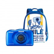 Aparat foto compact Nikon Coolpix W100 13.2 Mpx zoom optic 3x subacvatic Backpack Kit Blue