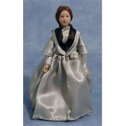 Victorian Lady in Blue Dress Doll