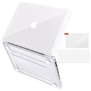 """MacBook Pro 13 Case 2016,Smooth Soft-Touch Matte Frosted Hard Shell Cover for Apple MacBook Pro 13"""" inch A1706 A1708 with Retina Display 2016 with or W/O Touch Bar & Touch ID + Free keyguard + touch bar protector + Dust plugs ( White )"""