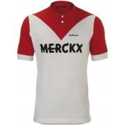 De Marchi X Eddy Merckx 1970 Roubaix Maglietta ciclismo Uomini rosso/bianco Magliette sportive