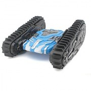 Sided armored off-road crawler All-terrain four-wheel drive high-speed remote control toy car with lights Blue