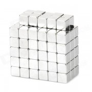 Cube Style NdFeB Magnet Pieces - Silver (4 x 4 x 4mm / 100 PCS)
