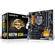 Carte mre GA-H97M-D3H Micro ATX Socket 1150 Intel H97 Express - SATA 6Gb/s - USB 3.0 - 1x PCI-Express 3.0 16x + 1x PCI-Express 2.0 16x