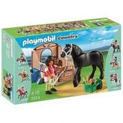 PLAYMOBIL Black Stallion with Stall Set