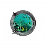 Pixnor Pegatina De Pared 43 * 43CM Pez 3D Submarino Ventana Submarina Mundo Pared Pegatina Para Casa Decor / Decalques De Papel Tapiz Para Niños Habitación