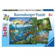 Puzzle farmecul dinozaurilor, 3x49 piese, RAVENSBURGER