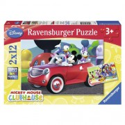 Puzzle Minnie, Mickey si prietenii, 2x12 piese, RAVENSBURGER Puzzle Copii
