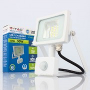 Projetor LED 10w»50W Luz Quente 800Lm SENSOR SLIM BR