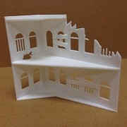 Paintable Ruined Building - 3D Printed / Scenery / Terrain / Buildings / Figures / Fantasy