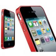 Bumper metalic pentru iPhone 4 / 4S - Rosu