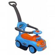 Baby Mix zenélő bébitaxi tolókarral kék-narancs színben