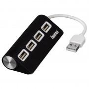 Hub USB Hama 4porturi negru