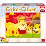 Educa cuburi cu poveşti animale şi puii lor 14578