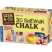 Thames & Kosmos 3D Sidewalk Chalk, Multi Color