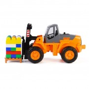 Polesie Wader Fork Lift Construction Set 49x22x23 cm Orange 1450574