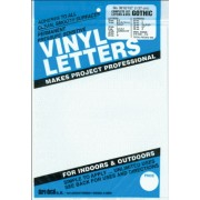 "Permanent Adhesive Vinyl Letters & Numbers .5"" 852/Pkg-White"