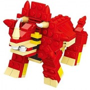 Hungry Dino building blocks toy play set includes 155 bricks in this fantastic red Dinosaur game - Compatible to Lego Pa
