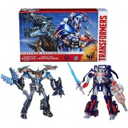 Hasbro Transformers Age Of Extinction Generations Collector Series Leader Class Optimus Prime And Grimlock