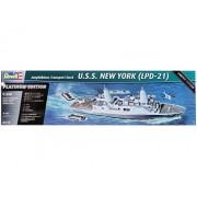 Revell - Barco transporte vehiculos anfibios u.s.s new york Edicion Platinum - Escala 1/350