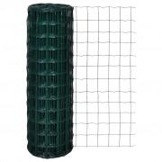 vidaXL Оградна мрежа с PVC покритие, 10 х см размер на дупките, 1.2 м