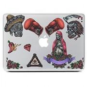 JMM - Skulls/Flower/Gloves 3D Pattern Design Laptop Notebook Skin Sticker Cover Vinyl Art Decal for 11 13.3 15.6 inch
