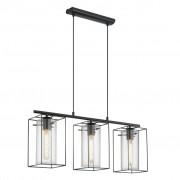EGLO Závesná lampa čiernej farby Loncino 49496
