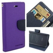 Annant Mercury Goospery Fancy Diary Card Wallet Flip Case Back Cover for Samsung Galaxy S Duos S7562/ GT- S7562/ S7582 (Purple)