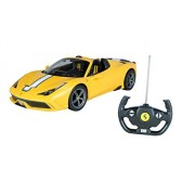Toyhouse Officially Licensed Rastar Ferrari 458 Speciale A 1:14 Scale Model Car, Yellow