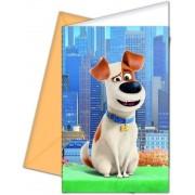 The Secret Life of Pets meghívó borítékkal, 6 db/csomag