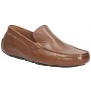 Clarks Davont Drive Tan Interest Lea Loafers(Tan)
