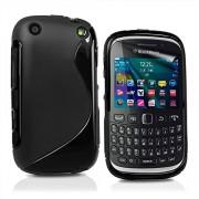 S Case Anti-skid Soft TPU Back Case Cover for BlackBerry Curve 9320 (Black)