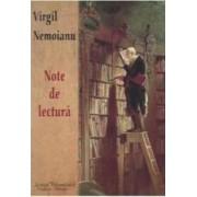 Note de lectura - Virgil Nemoianu