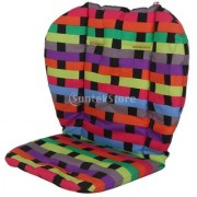 Oxford Cotton Baby Stroller Cushion Pushchair Seat Pad Colorful Grid