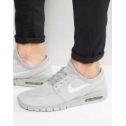 Nike Серые кожаные кроссовки Nike SB Stefan Janoski Max 685299-007 - Серый