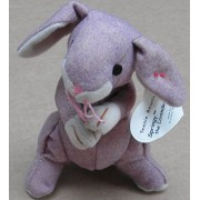 TY Teenie Beanie Babies Springy the Lavender Bunny Stuffed Animal Plush Toy by Unknown