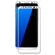 Samsung Galaxy S8 Amorus Tempered Glass Screen Protector - White