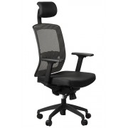 FOPOL - GN Office armchair GN-301/BLACK/GREY with seat sliding system, swivel chair