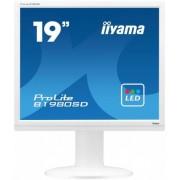 "Monitor TN LED iiyama 19"" ProLite B1980SD-W1, DVI-D, VGA, 5ms, Boxe (Alb)"