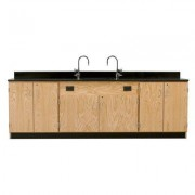 Diversified Woodcrafts Wall Service Bench With Door 3216K