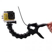J Jaws Flex Clamp Mount with Adjustable Neck for Gopro Hero5 Hero 4 Hero 3 Camera Sjcam Sj4000 Sj5000 Sj6 Black