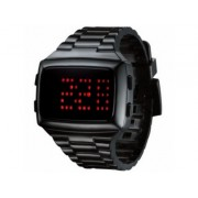 LED LED-BK-STP Unisex Digital Black Dial And Pu Strap Watch