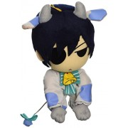 "Great Eastern GE-8999 Butler Ciel Cow Cosplay Plush Toy, 7"", Black"